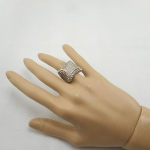 Older Chunky Heavy Gold & Silver Tone Ring Size 7